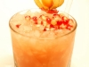 Alkoholfri drink med granatæble og ananas