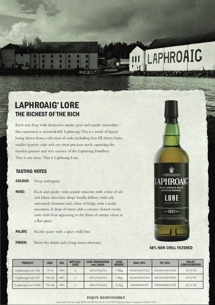 Laphroaig Lore Sell Sheet1