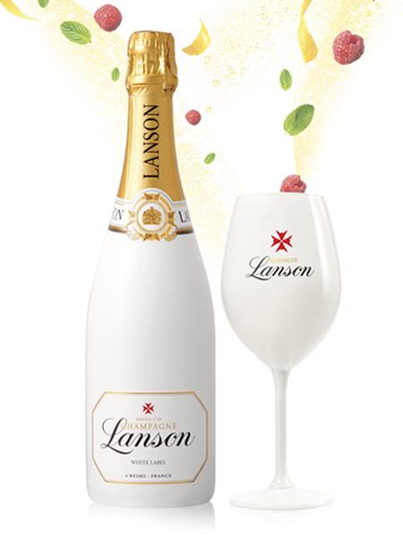 Lanson white champagne